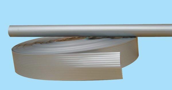 仿铝合金热缩套管产品有半圆条纹和平纹两种规格.