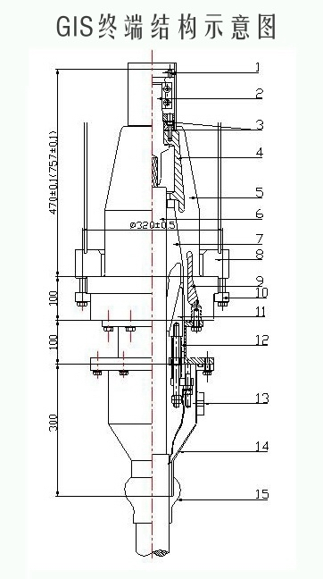 64/110kv干式gis插拨终端
